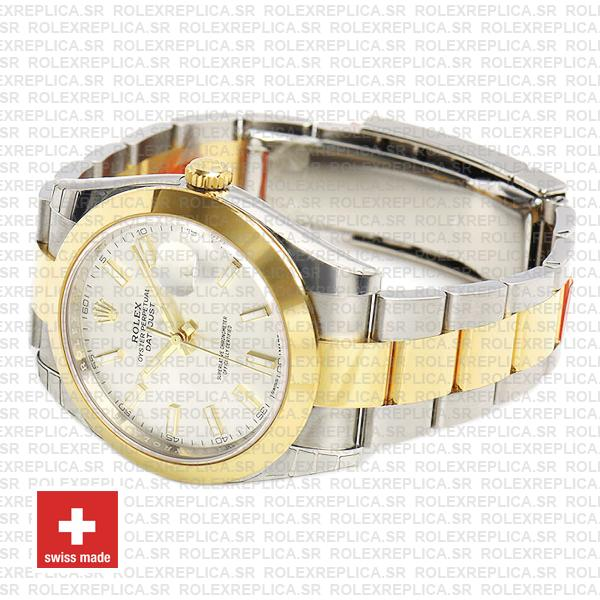 Rolex Datejust 41 18k Yellow Gold Two-Tone, 904L Steel Smooth Bezel