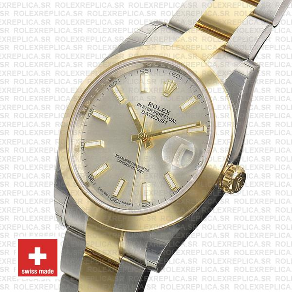 Rolex Datejust 41 Silver Dial Two-Tone Watch