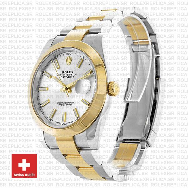 Rolex Datejust 41 Silver Dial Two-Tone Watch Replica