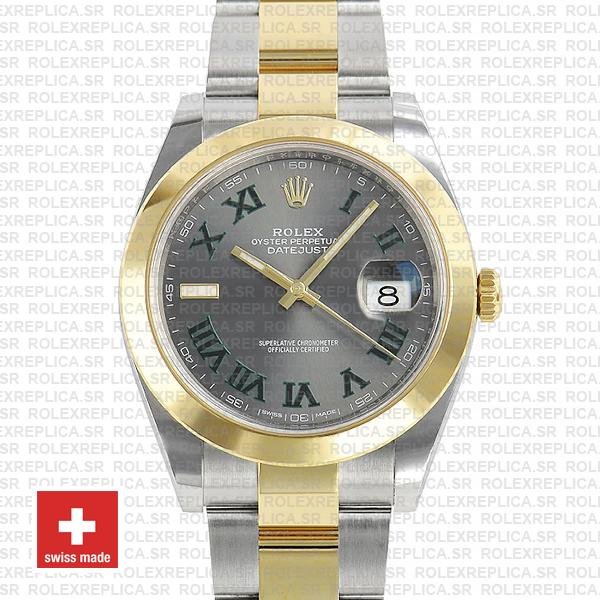 Rolex Datejust Two-Tone 41mm | Slate Grey Dial Roman Watch