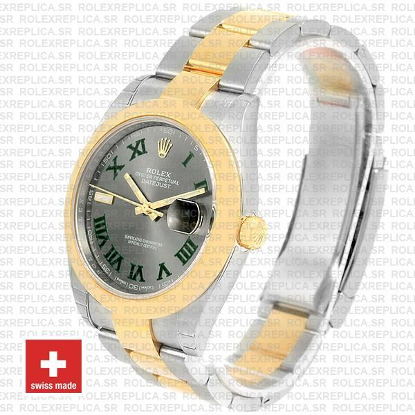 Rolex Datejust Two-Tone 41mm Slate Grey Dial Roman Replica