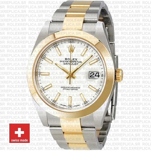 Rolex Oyster Perpetual Datejust Two-Tone 18k Yellow Gold 41mm Rolex Replica Watch