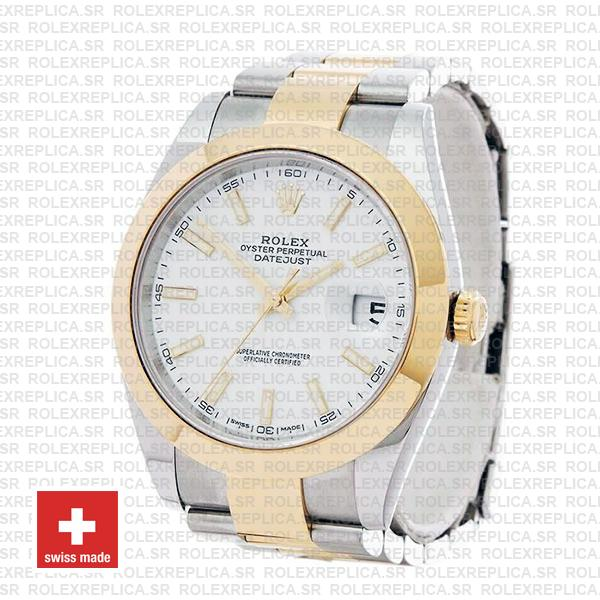 Rolex Oyster Perpetual Datejust Two-Tone 18k Yellow Gold 41mm Replica Watch