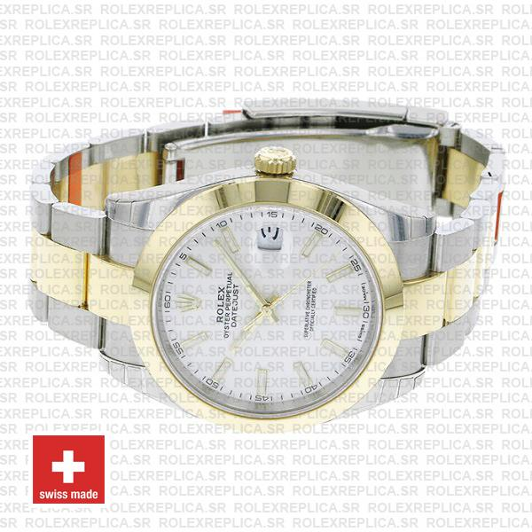 Rolex Oyster Perpetual Datejust Two-Tone 18k Yellow Gold 41mm Replica