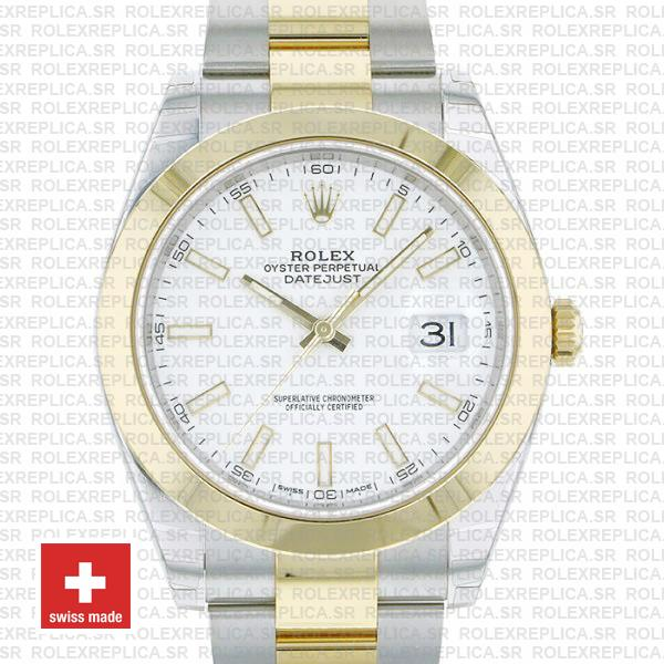 Rolex Oyster Perpetual Datejust Two-Tone 18k Yellow Gold 41mm