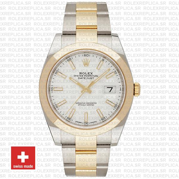 Rolex Oyster Perpetual Datejust Two-Tone 18k Yellow Gold