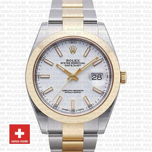 Rolex Datejust 41 Two Tone White Dial