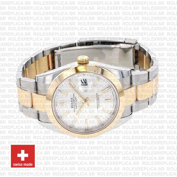 Rolex Datejust 41 Two Tone White Dial Replica