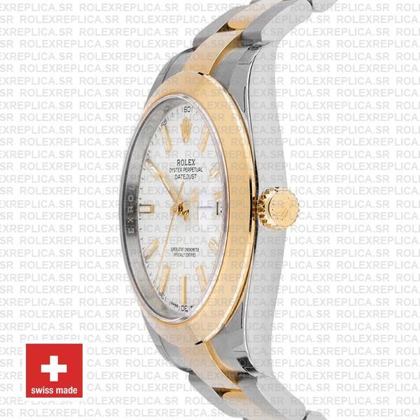 Rolex Datejust 41 Two Tone White Dial Replica Watch