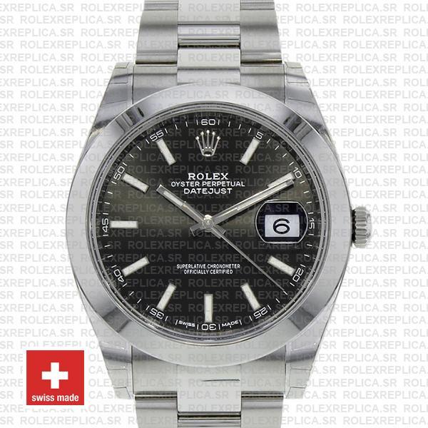 Rolex Datejust 41 Black Dial Swiss Replica Watch Rolex Replica