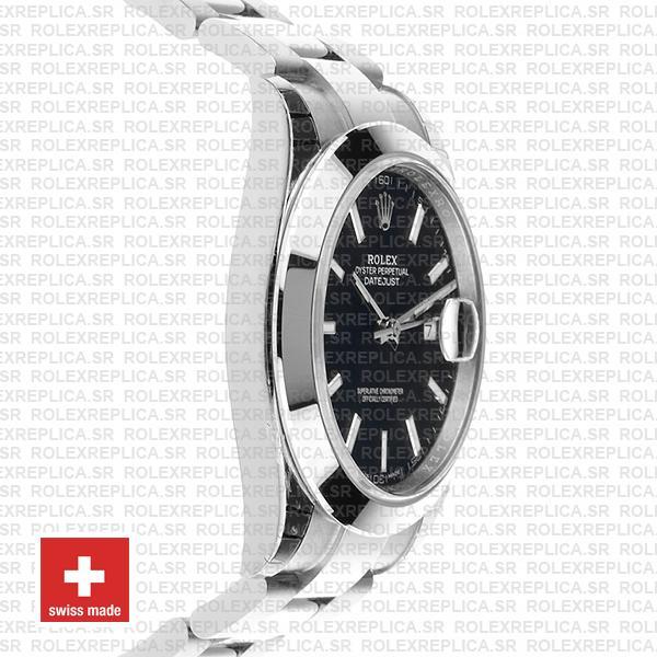 Rolex Datejust 41 Black Dial Swiss Replica Rolex Replica