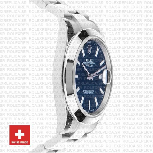 Rolex Datejust 41 Stainless Steel Blue Dial Replica Watch