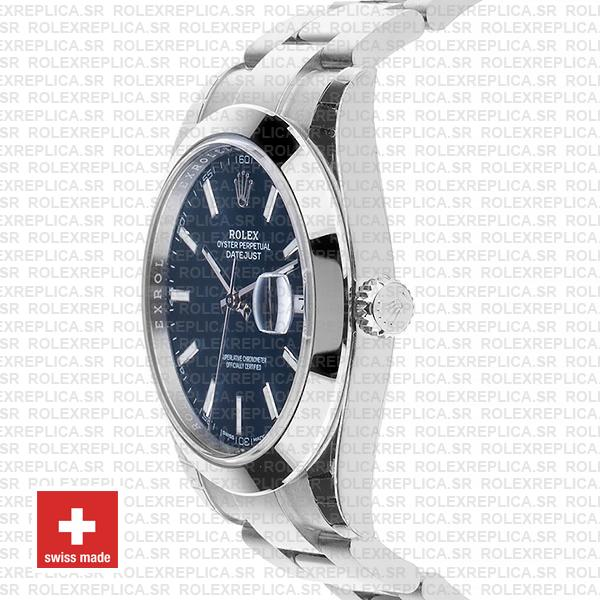 Rolex Datejust 41 Stainless Steel Blue Dial Replica