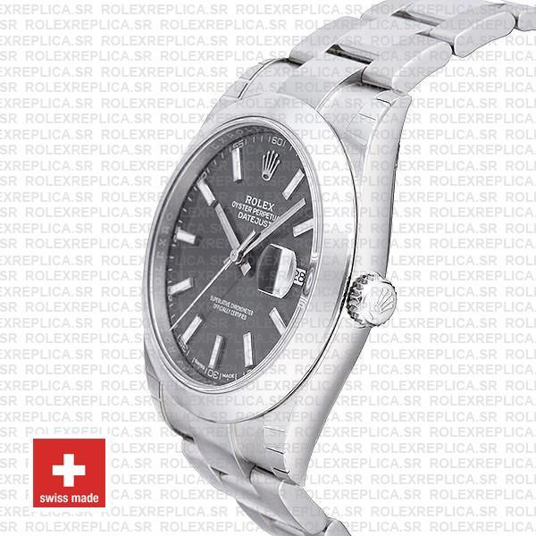 Rolex Datejust 41 904L Steel Dark Rhodium Grey Dial