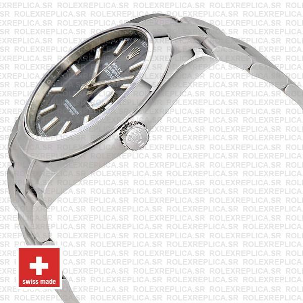 Rolex Datejust 41mm Grey Dial Oyster Swiss Replica Watch