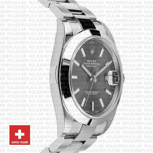 Rolex Datejust 41mm Grey Dial Oyster Replica Watch