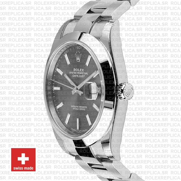 Rolex Datejust 41mm Grey Dial Oyster Replica WatchRolex Datejust 41mm Grey Dial Oyster Replica