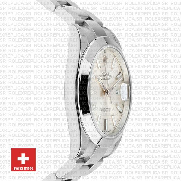 Rolex Datejust 41 Silver Dial Oyster Bracelet Replica Watch