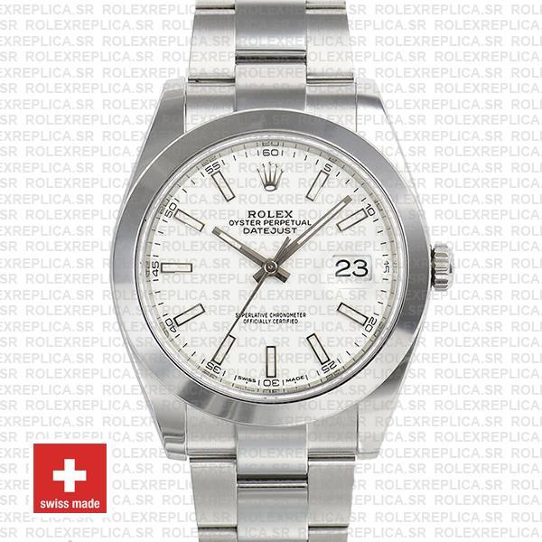 Rolex Datejust 41 904L Steel White Dial Oyster Bracelet