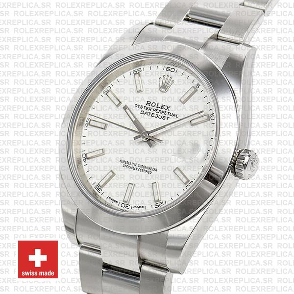 Rolex Datejust 41 904L Steel White Dial Oyster