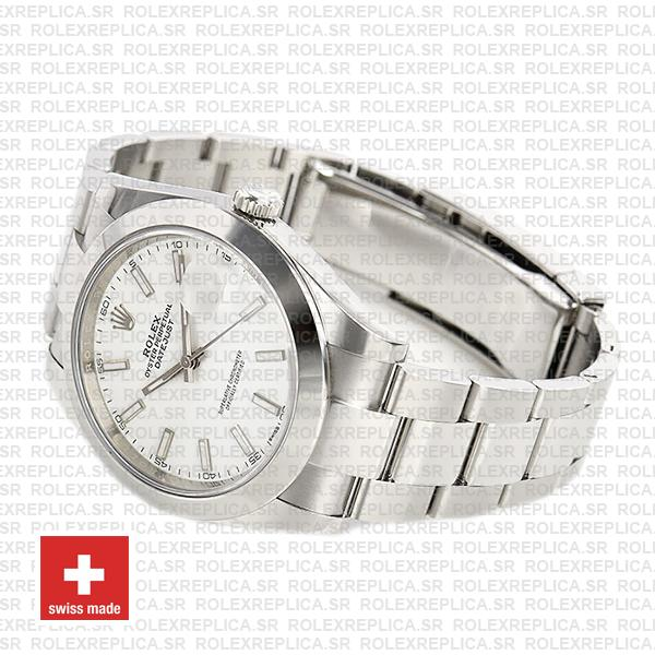 Rolex Datejust 41 904L Steel White Dial Oyster Replica