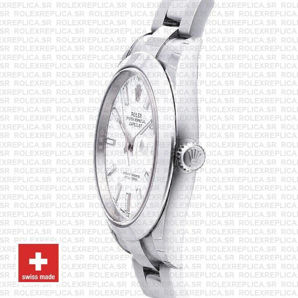 Rolex Datejust 41 904L Steel White Dial Oyster Swiss Replica