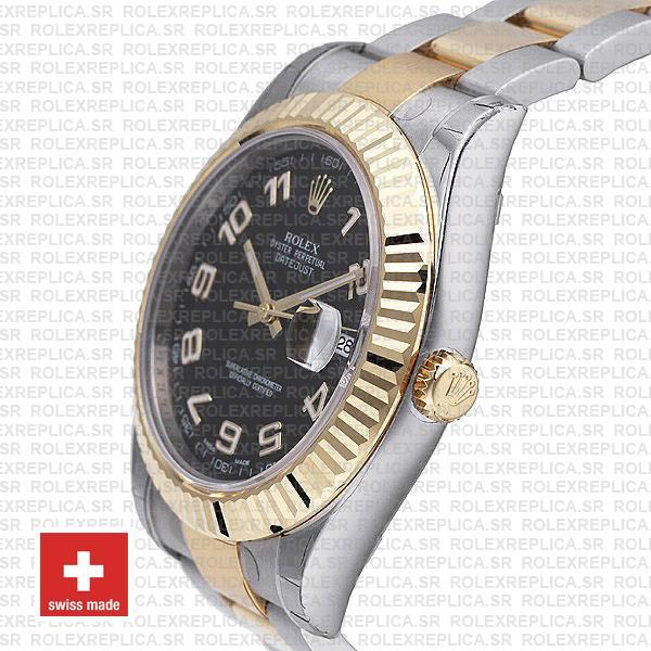 Rolex Datejust ΙΙ Two-Tone Gold Black Arabic Dial Swiss Replica Watch