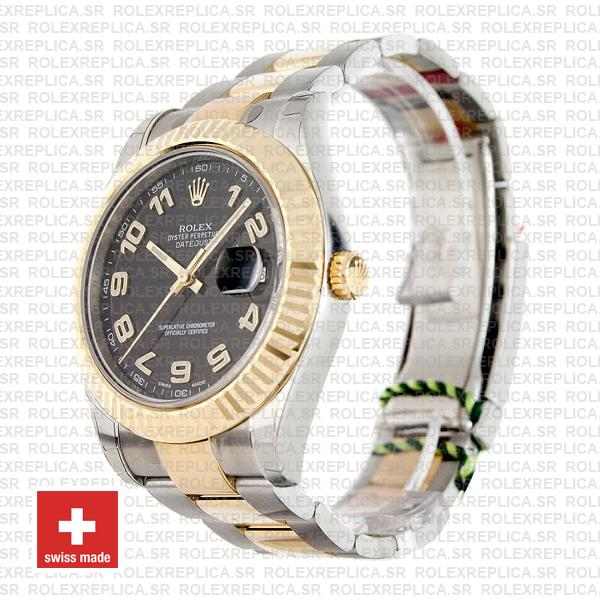 Rolex Datejust ΙΙ Two-Tone Gold Black Arabic Dial