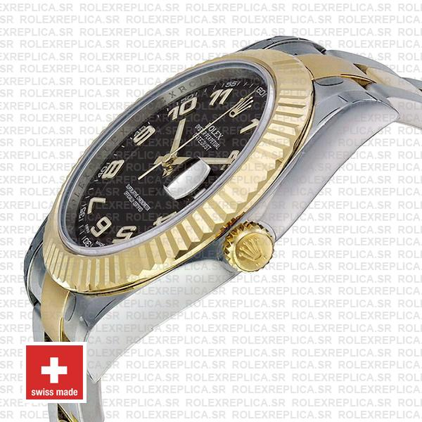 Rolex Datejust Two-Tone 18k Yellow Gold/904L Steel Bracelet with Fluted Bezel