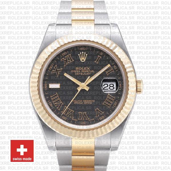 Rolex Datejust ΙΙ Two-Tone Gold 41 | Black Roman Dial Watch