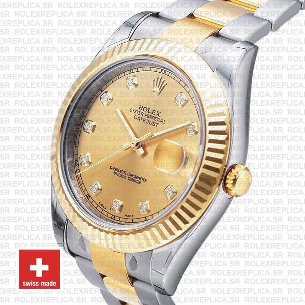 Rolex Datejust II Two-Tone Gold Diamond Dial Rolex Replica