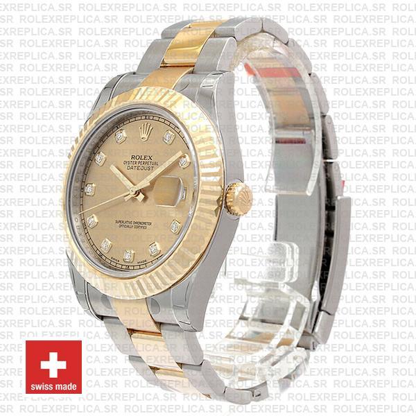 Rolex Datejust II Two-Tone Gold Diamond Dial