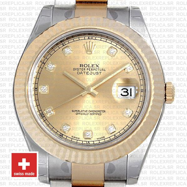 Rolex Datejust II Oyster Two-Tone 18k Yellow Gold 904L Steel