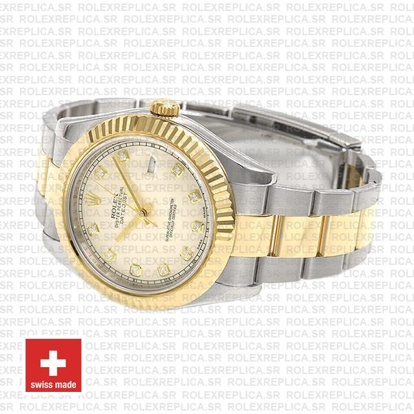 Rolex Datejust ΙΙ Two-Tone 18k Yellow Gold, 904L Steel Fluted Bezel Ivory White Dial