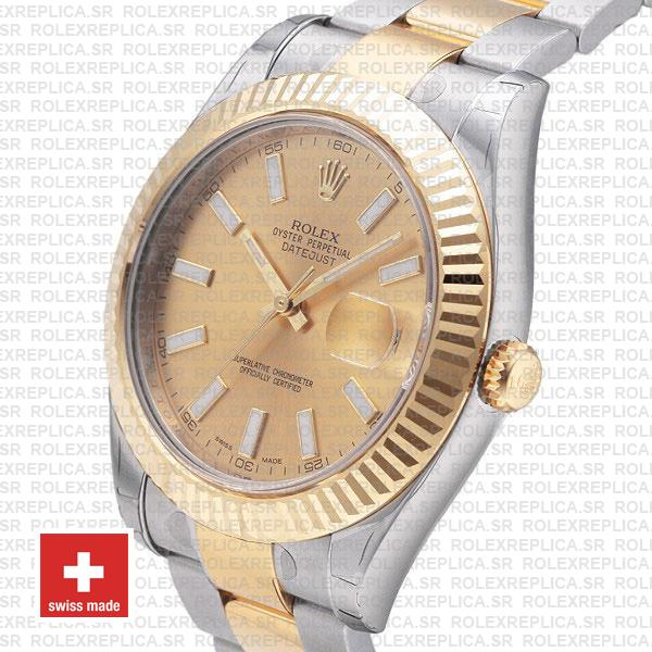 Rolex Datejust ΙΙ Two-Tone Gold Dial 41mm Swiss Replica Watch