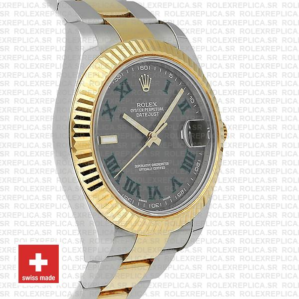 Rolex Datejust ΙΙ Two-Tone 18k Yellow Gold, 904L Steel Fluted Bezel Slate Grey Dial