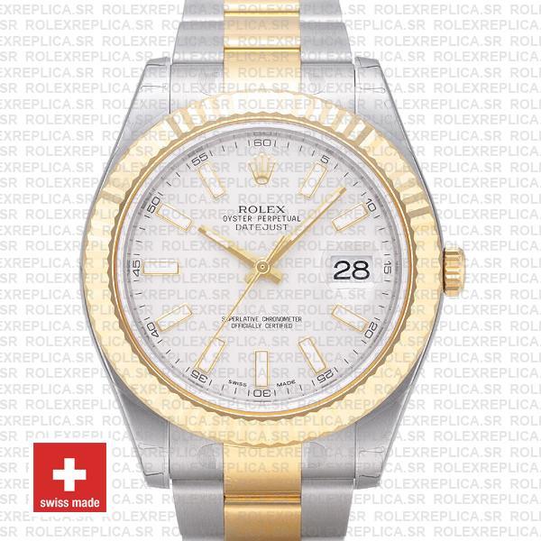 Rolex Datejust ΙΙ Two-Tone White Dial 41mm | Rolex Replica