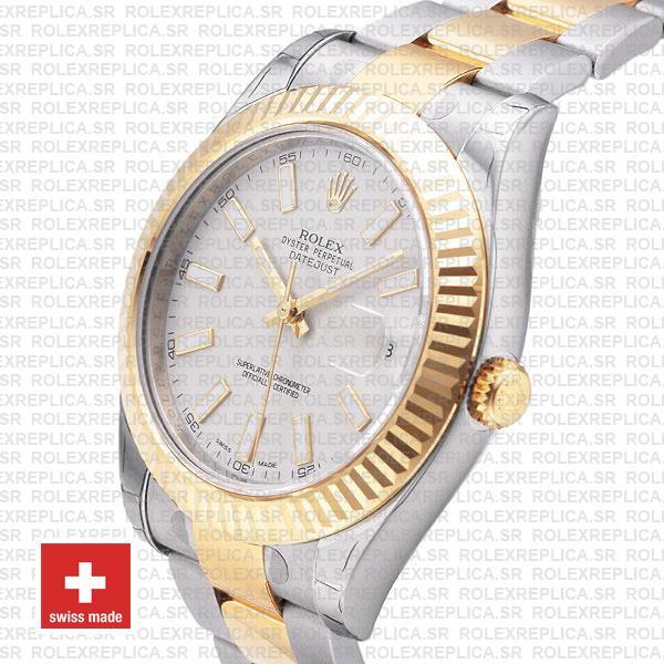 Rolex Datejust ΙΙ Two-Tone White Dial 41mm Rolex Replica