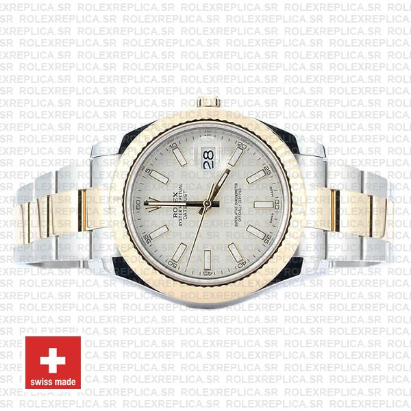 Rolex Datejust ΙΙ Two-Tone White Dial 41mm Rolex Replica Watch
