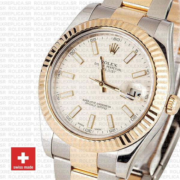 Rolex Datejust ΙΙ Two-Tone White Dial 41mm