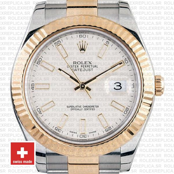Rolex Datejust ΙΙ Oyster Bracelet Two-Tone 18k Yellow Gold