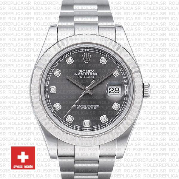 Rolex Datejust ΙΙ Grey Dial Diamonds | Swiss Replica Watch