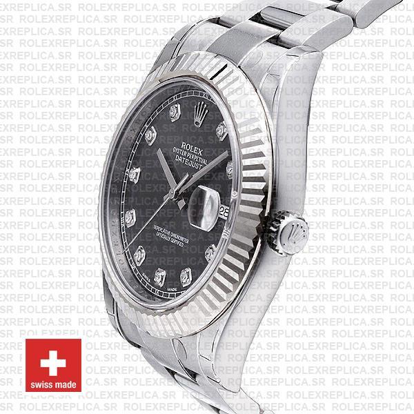 Rolex Datejust ΙΙ Grey Dial Diamonds Swiss Replica Watch