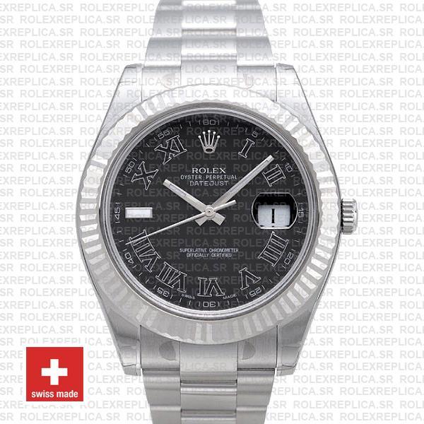 Rolex Datejust ΙΙ Roman 41mm | Black Dial Rolex Replica Watch