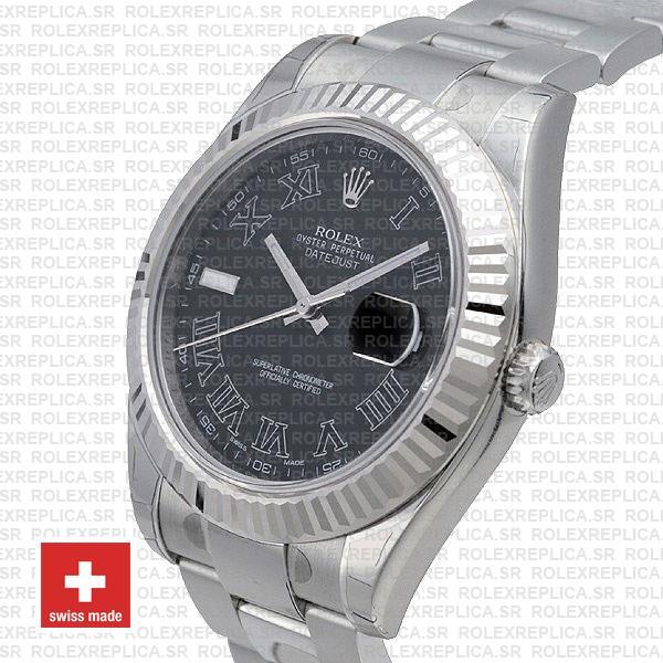 Rolex Datejust ΙΙ Roman 41mm | Black Dial Replica Watch