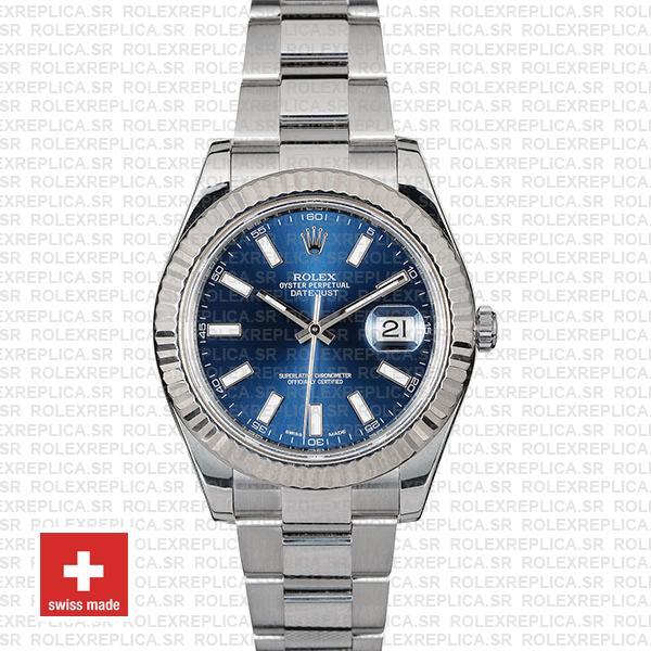 Rolex Datejust ΙΙ 41mm Oyster Bracelet Blue Dial Swiss Replica