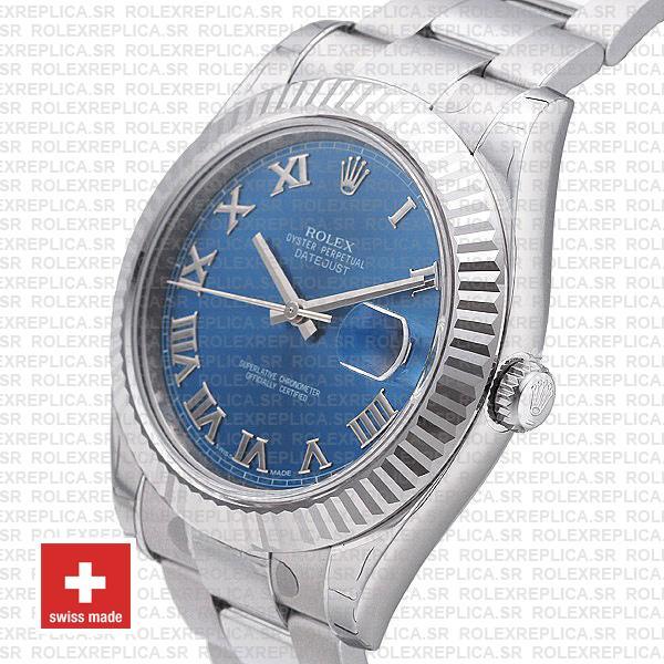Rolex Datejust ΙΙ 41mm Blue Roman Dial Swiss Replica Watch