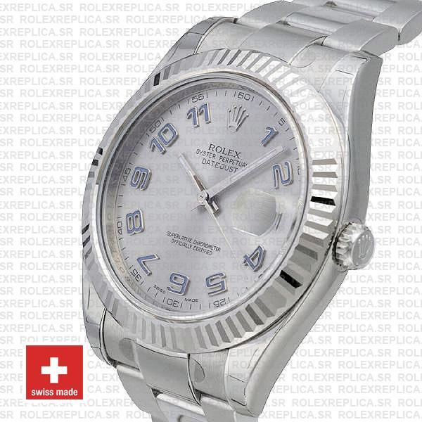 Rolex Datejust ΙΙ 41mm Silver Arabic Dial Swiss Replica