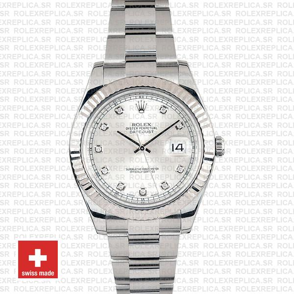 Rolex Datejust ΙΙ 41mm Silver Diamonds Dial Replica