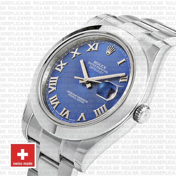 Rolex Datejust II Blue Dial Steel 41mm 116300 Replica Watch